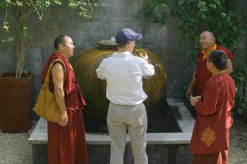 Tibetan Monks Visit Peace Awareness Labyrinth Gardens New Day Herald