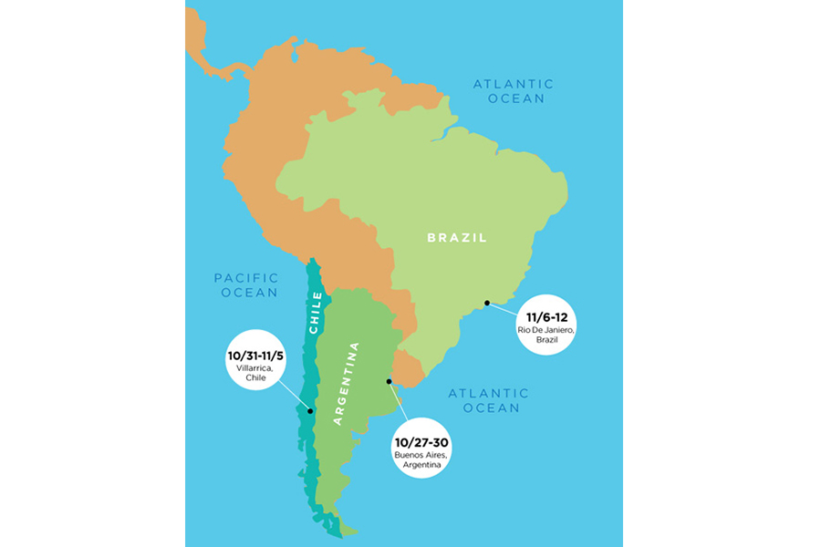 A Flotilla of Light: Supporting the Light Work with the Traveler in South America