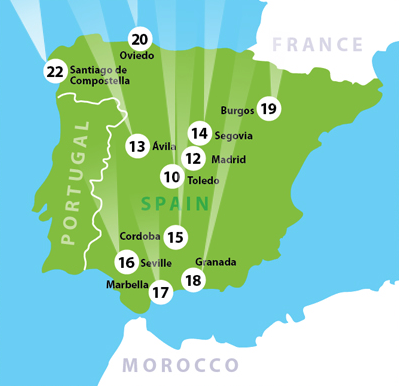 Map Of Tour Of Spain 2017.Spain Portugal Tour 2017 The Way Of The Traveler New Day Herald