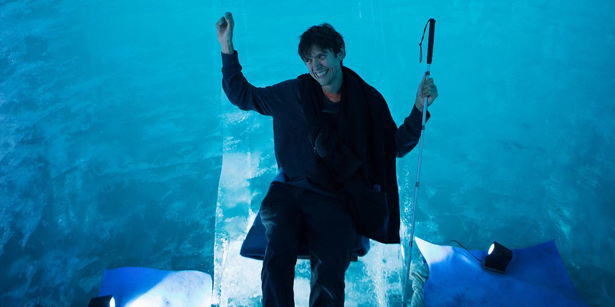 Matt VanFossan in a Glacier Cave