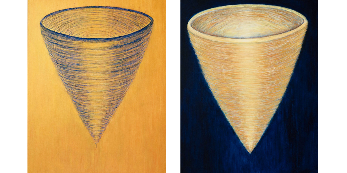 Two Paintings from the Vortices Series